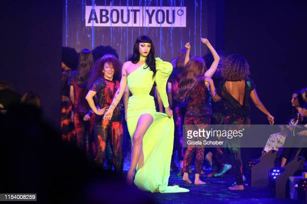 Violet Chachki walks the runway at the opening show of the AYFW About You Fashion Week at ewerk on July 05 2019 in Berlin Germany