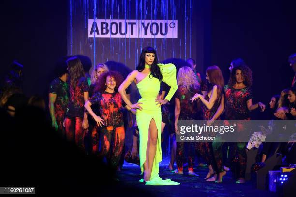 Violet Chachki walks the runway at the opening show of the AYFW - About You Fashion Week at ewerk on July 05, 2019 in Berlin, Germany.