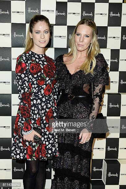 Violet Henderson and Alice Naylor Leyland attend the Serpentine Future Contemporaries x Harrods Party 2016 at The Serpentine Sackler Gallery on...