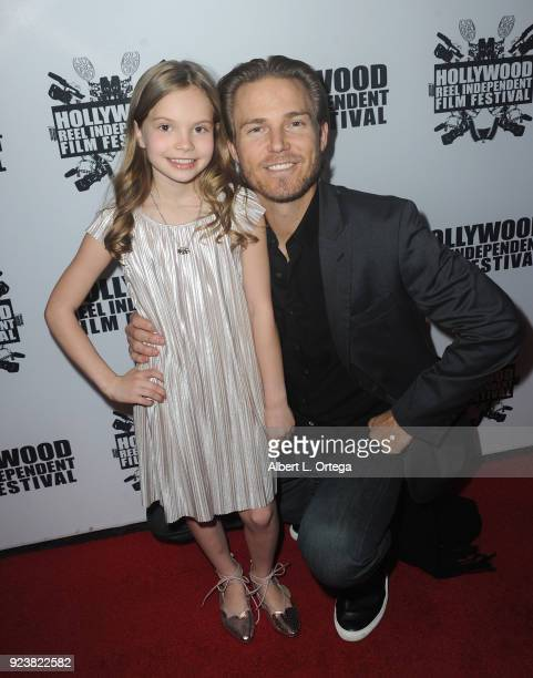 Violet Hicks and Jilon Danover attend the 17th Annual Hollywood Reel Independent Film Festival Award Ceremony Red Carpet Event held at Regal Cinemas...
