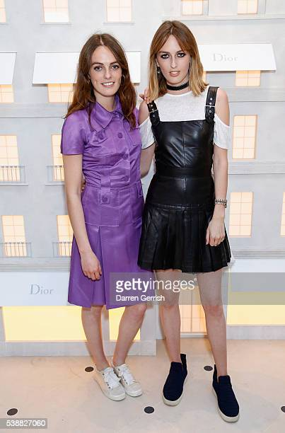 Violet Manners and Alice Manners attend the House of Dior Boutique Launch Party in New Bond Street on June 8 2016 in London England