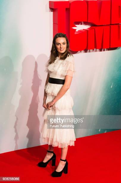 Violet Manners arrives for the European film premiere of 'Tomb Raider' at Vue West End cinema in London's Leicester Square March 6 2018 in London...