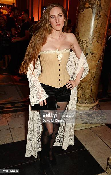 Violet NaylorLeyland attends a private view of new exhibition Undressed A Brief History Of Underwear at The VA on April 13 2016 in London England