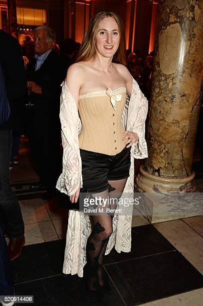 Violet NaylorLeyland attends a private view of new exhibition 'Undressed A Brief History Of Underwear' at The VA on April 13 2016 in London England