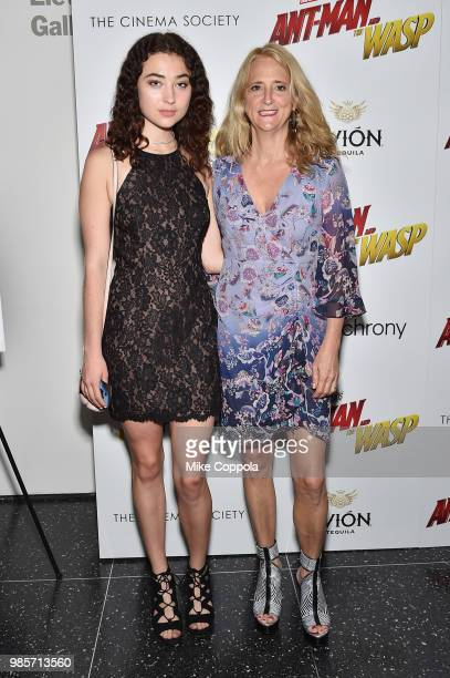 Violet Savage and Nanette Lepore attend the screening of Marvel Studios' 'AntMan and The Wasp' hosted by The Cinema Society with Synchrony and Avion...
