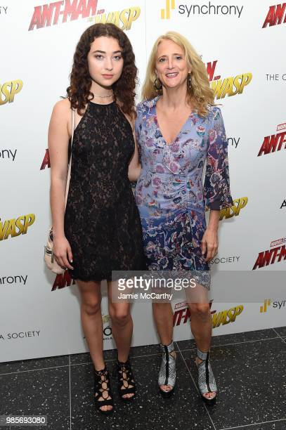 Violet Savage and Nanette Lepore attends a screening of Marvel Studios' 'AntMan and the Wasp' hosted by The Cinema Society with Synchrony and Avion...