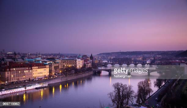 Violet Twilight in Prague