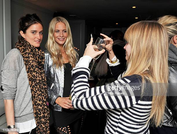 Violet von Westenholz and Poppy Delevingne attend a party hosted by Thakoon Poppy Delevingne and Mary Charteris at Soho House on March 22 2011 in...