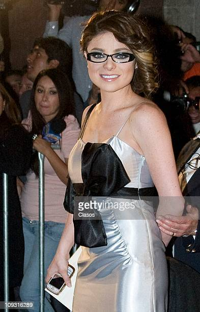 Violeta Isfel attends to the marriage between Angelica Vale and Otto Padron at Colegio de Las Vizcainas on February 19 2011 in Mexico City Mexico