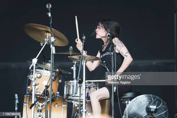 Violeta Mosquera of Bala performs on stage during day 3 of Download festival 2019 at La Caja Magica on June 30 2019 in Madrid Spain