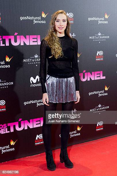 Violeta Rodriguez attends 'Los Del Tunel' premiere during the Madrid Premiere Week at Callao Cinema on November 21 2016 in Madrid Spain