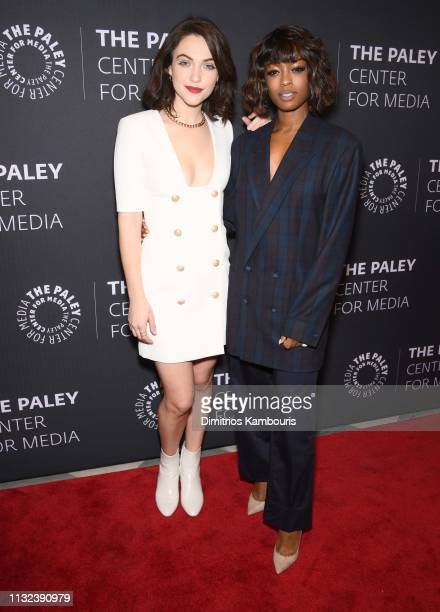 Violett Beane and Javicia Leslie attend the God Friended Me Screening Discussion at The Paley Center for Media on February 26 2019 in New York City