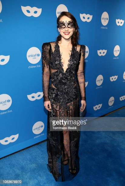 Violett Beane attends the Sixth Annual UNICEF Masquerade Ball at Clifton's Republic on October 25 2018 in Los Angeles California