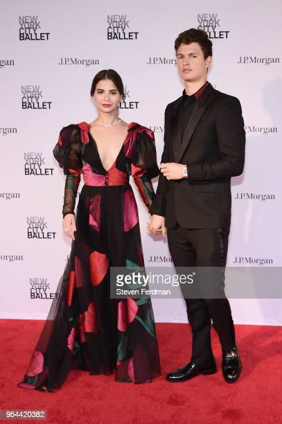 Violetta Komyshan and Ansel Elgort attend New York City Ballet 2018 Spring Gala at Lincoln Center on May 3 2018 in New York City
