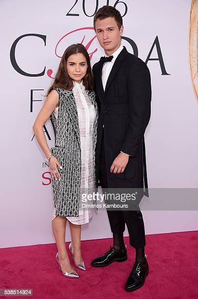 Violetta Komyshan and Ansel Elgort attend the 2016 CFDA Fashion Awards at the Hammerstein Ballroom on June 6 2016 in New York City