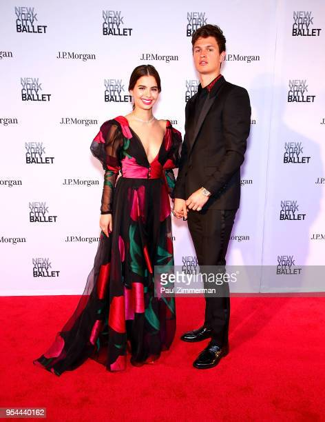 Violetta Komyshan and Ansel Elgort attend the 2018 New York City Ballet Spring Gala at David H Koch Theater Lincoln Center on May 3 2018 in New York...