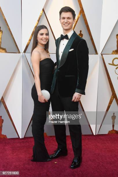 Violetta Komyshan and Ansel Elgort attend the 90th Annual Academy Awards at Hollywood & Highland Center on March 4, 2018 in Hollywood, California.