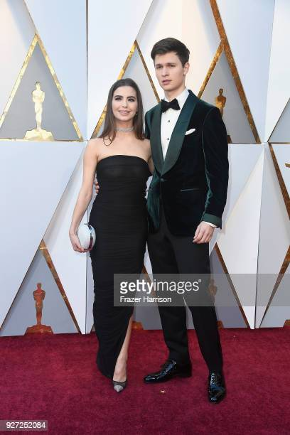 Violetta Komyshan and Ansel Elgort attend the 90th Annual Academy Awards at Hollywood Highland Center on March 4 2018 in Hollywood California