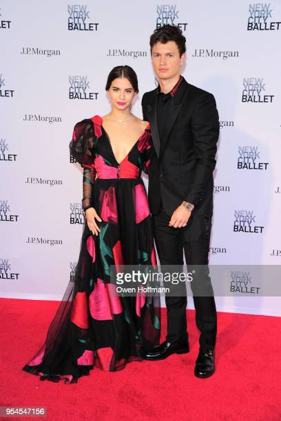 Violetta Komyshan and Ansel Elgort attends New York City Ballet 2018 Spring Gala at David H Koch Theater Lincoln Center on May 3 2018 in New York City