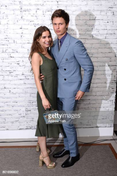 Violetta Komyshan and Ansel Elgort the screening after party of 'Baby Driver' hosted by TriStar Pictures and The Cinema Society at The Crown at Hotel...