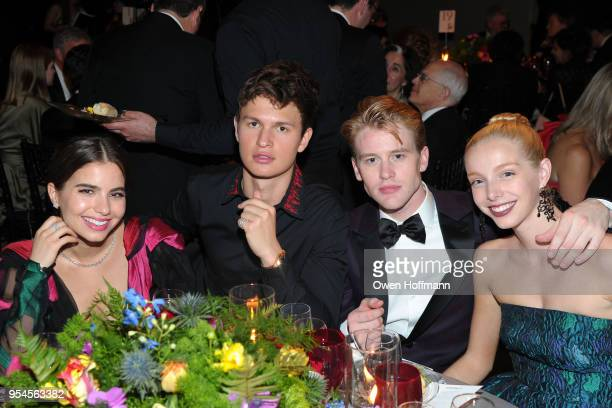 Violetta Komyshan Ansel Elgort Chase Finlay and Alex Waterbury attends New York City Ballet 2018 Spring Gala at David H Koch Theater Lincoln Center...
