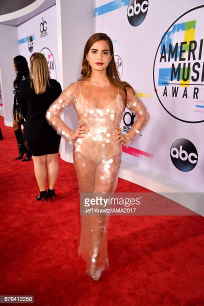Violetta Komyshan attends the 2017 American Music Awards at Microsoft Theater on November 19 2017 in Los Angeles California