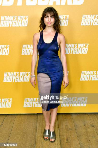 """Violetta Komyshan attends the """"Hitman's Wife's Bodyguard"""" special screening at Crosby Street Hotel on June 14, 2021 in New York City."""