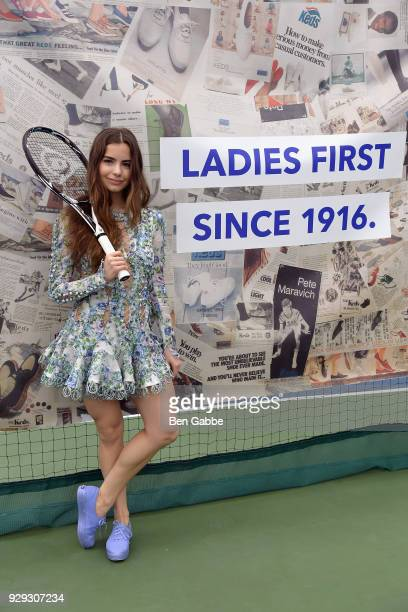 Violetta Komyshan celebrates International Women's Day with Keds at Manhattan Plaza Racquet Club on March 8 2018 in New York City