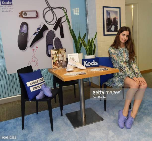 Violetta Komyshan celebrates International Women's Day with Keds at Manhattan Plaza Racquet Club on March 8 2018 in New York City