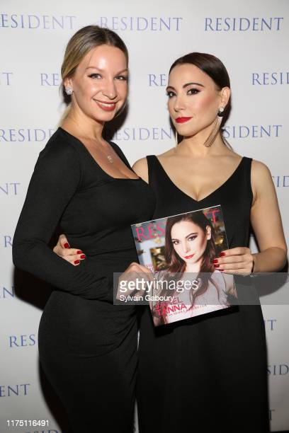 Violetta Malakhova and Janel Tanna attend Janel Tanna's Cover Party By Resident Magazine at Philippe Chow on October 9 2019 in New York City