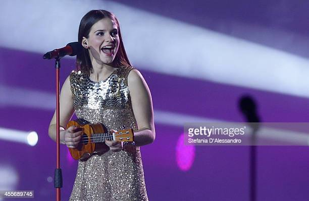 Violetta performs at ''X Factor' The Final on December 12 2013 in Milan Italy