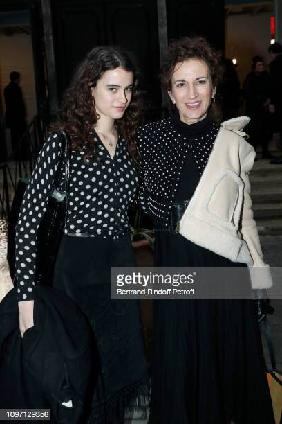 Violetta Sanchez and her daughter Luz attend the Tribute To Azzedine Alaia as part of Paris Fashion Week on January 20 2019 in Paris France