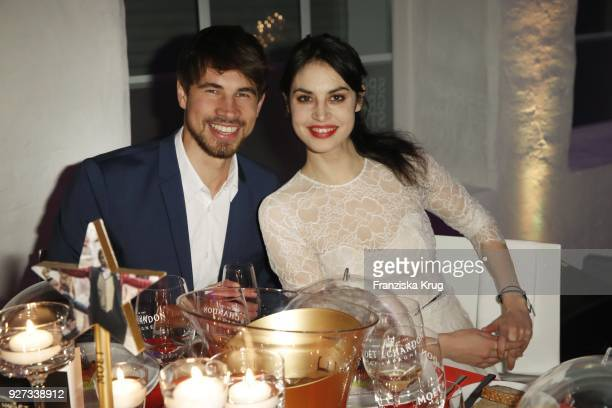 Violetta Schurawlow and her brother Axel Schurawlow during the Moet Academy Night on March 4 2018 in Berlin Germany