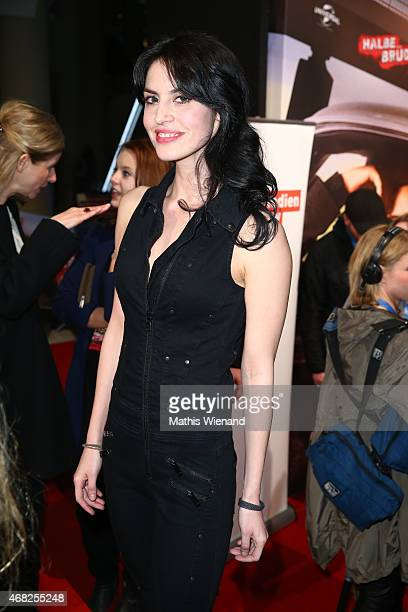 Violetta Schurawlow attends the German premiere of the film 'Halbe Brueder' at Cinedome Mediapark on March 31 2015 in Cologne Germany