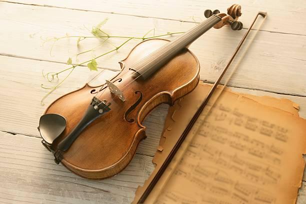 Violin And Music Sheet Wall Art