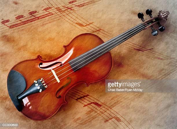 Violin and Musical Notes