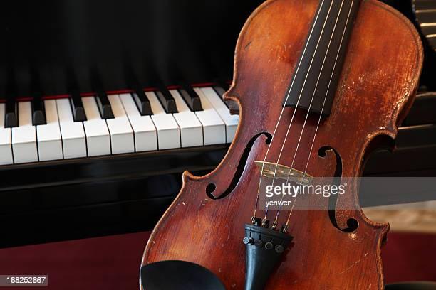 Violine und Klavier, Nahaufnahme