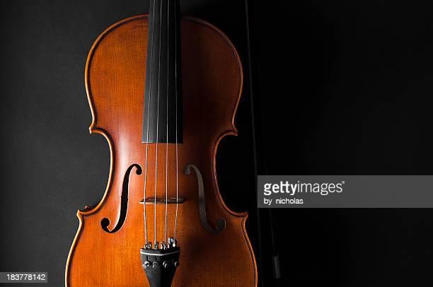 Violin, black background