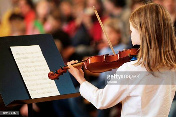violin girl - string instrument stock photos and pictures