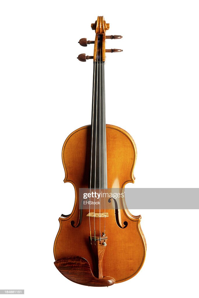 Violin Isolated on White Background : Stock Photo