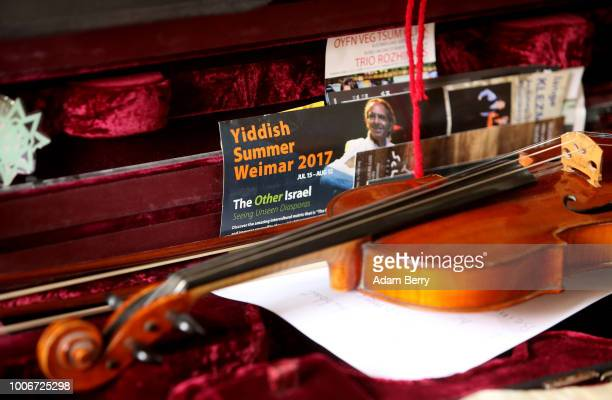 Violin lies in its case during Yiddish Summer Weimar on July 27, 2018 in Weimar, Germany. The annual five-week summer institute and festival,...