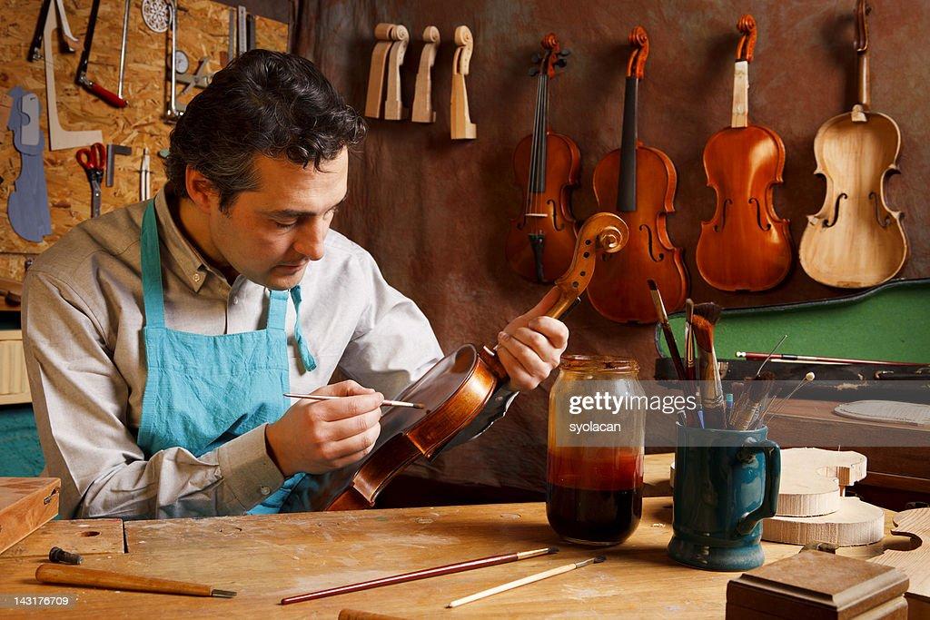 Violin Maker's Studio : Stock Photo