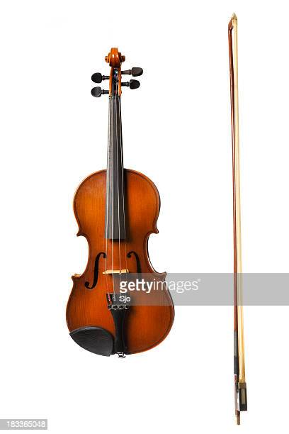 Violin on white