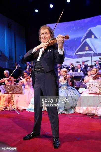 Violin player Andre Rieu and his Johann Strauss Orchestra during the Semper Opera Ball 2017 at Semperoper on February 3 2017 in Dresden Germany
