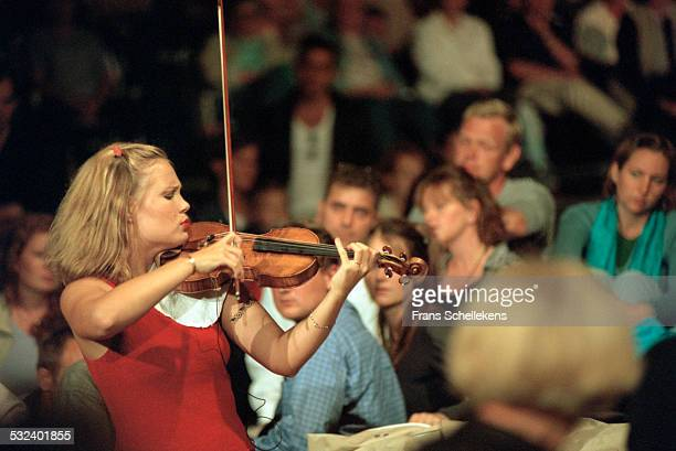 Violin player Leila Josefowicz performs during Prinsengrachtconcert on August 19th 2000 in Amsterdam, Netherlands.