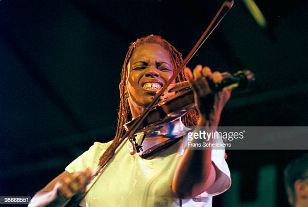 Violin player Regina Carter performs live at the North Sea Jazz festival in The Hague, Netherlands on July 10 1999