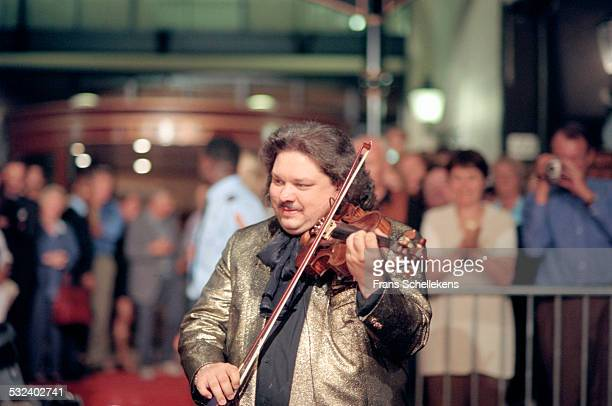 Violin player Roby Lakatos performs during Prinsengrachtconcert on August 19th 2000 in Amsterdam, Netherlands.