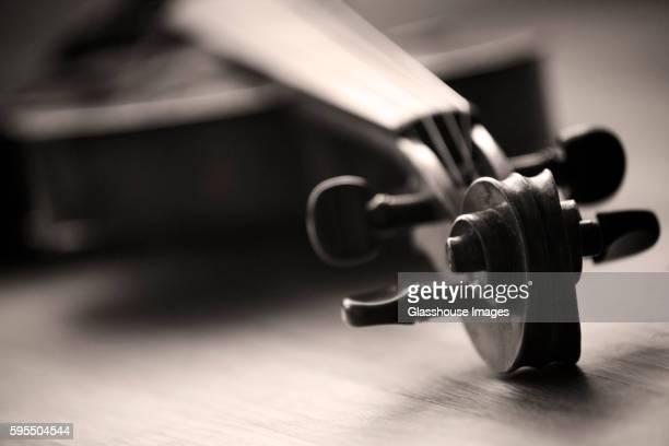 Violin Scroll Close-up