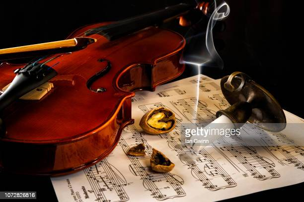 violin vanitas - ian gwinn stock photos and pictures