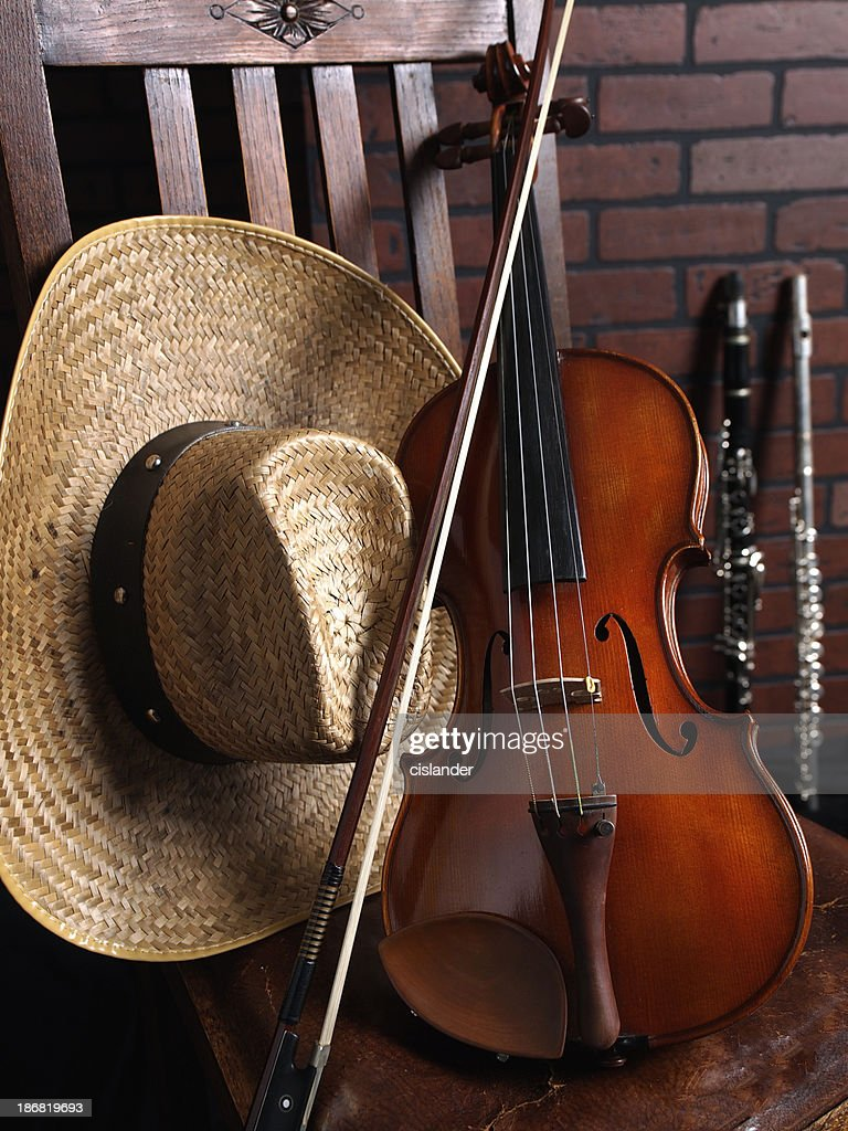 Violin Western Music Motif : Stock Photo